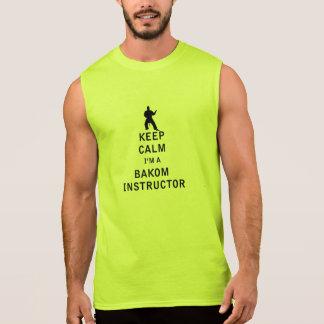 Guarde la calma que soy instructor de Bakom Camiseta Sin Mangas