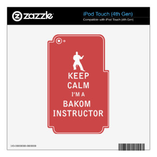 Guarde la calma que soy instructor de Bakom iPod Touch 4G Skin