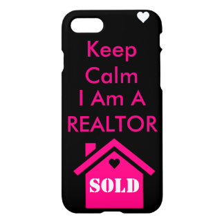 Guarde la calma que soy un agente inmobiliario funda para iPhone 7