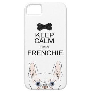 Guarde la calma que soy un Frenchie (con Frenchie) iPhone 5 Fundas