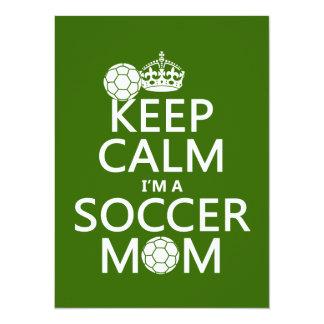 Guarde la calma que soy una mamá del fútbol (en invitación 13,9 x 19,0 cm