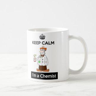 Guarde la calma que soy una taza del químico