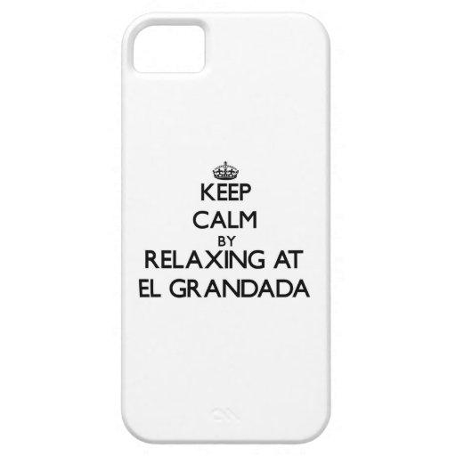 Guarde la calma relajándose en el EL Grandada Cali iPhone 5 Case-Mate Fundas