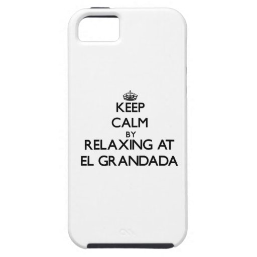 Guarde la calma relajándose en el EL Grandada Cali iPhone 5 Case-Mate Protectores