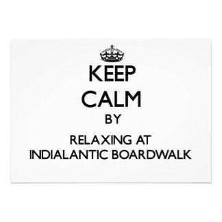 Guarde la calma relajándose en el paseo marítimo F Comunicado Personalizado