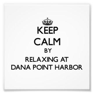 Guarde la calma relajándose en el puerto Califor d Arte Fotografico