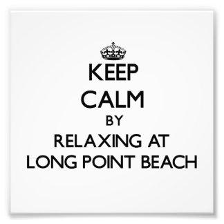 Guarde la calma relajándose en la playa larga Wash Arte Fotografico