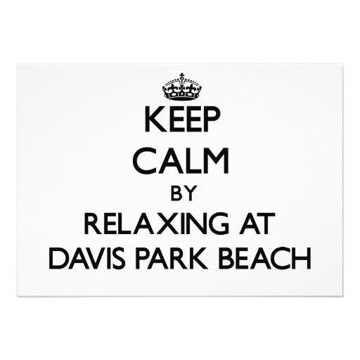 Guarde la calma relajándose en la playa Nueva York Comunicado Personalizado