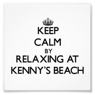 Guarde la calma relajándose en la playa Nueva York Impresion Fotografica