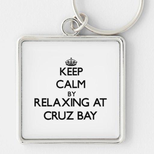Guarde la calma relajándose en las Islas Vírgenes  Llaveros Personalizados