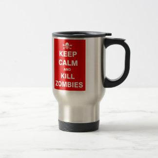 Guarde la calma taza de café