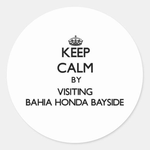 Guarde la calma visitando Bahía Honda Bayside la Etiquetas Redondas