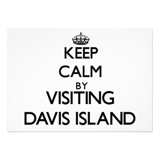 Guarde la calma visitando la isla la Florida de Da Invitacion Personal