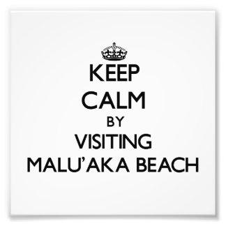 Guarde la calma visitando la playa Hawaii de Malu