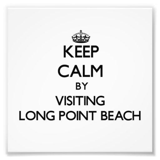 Guarde la calma visitando la playa larga Washingto Impresiones Fotográficas