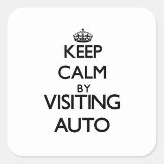 Guarde la calma visitando Samoa auto Pegatinas Cuadradas Personalizadas