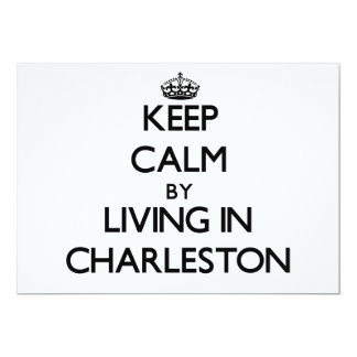 Guarde la calma viviendo en Charleston Invitación 12,7 X 17,8 Cm