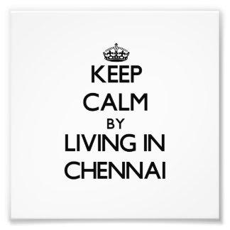 Guarde la calma viviendo en Chennai Fotografias