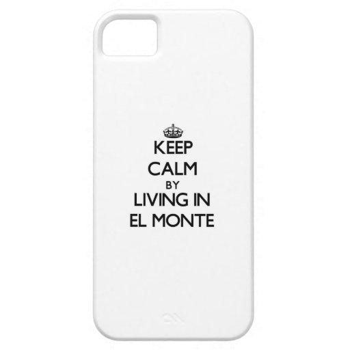 Guarde la calma viviendo en el EL Monte iPhone 5 Protector