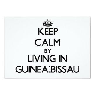 Guarde la calma viviendo en Guinea-Bissau Invitación 12,7 X 17,8 Cm