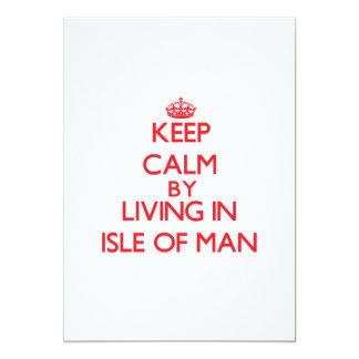Guarde la calma viviendo en la isla del hombre anuncios personalizados