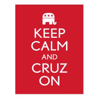 Guarde la calma y a Cruz 2016 Postal