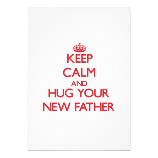 Guarde la calma y ABRACE a su nuevo padre Invitacion Personalizada