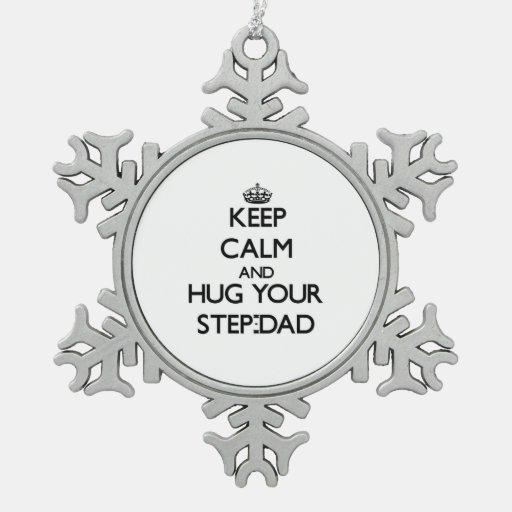 Guarde la calma y abrace a su Paso-Papá Adornos