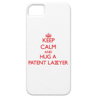 Guarde la calma y abrace a un abogado patentado iPhone 5 Case-Mate carcasas