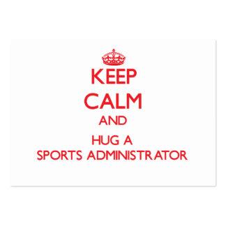 Guarde la calma y abrace a un administrador de los plantilla de tarjeta de negocio