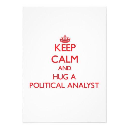 Guarde la calma y abrace a un analista político anuncio