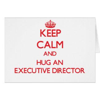 Guarde la calma y abrace a un director ejecutivo tarjeton