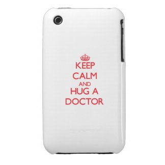 Guarde la calma y abrace a un doctor Case-Mate iPhone 3 cárcasas