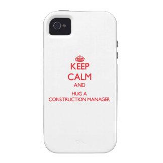 Guarde la calma y abrace a un encargado de la cons Case-Mate iPhone 4 carcasa