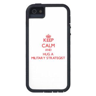 Guarde la calma y abrace a un estratega militar iPhone 5 cobertura