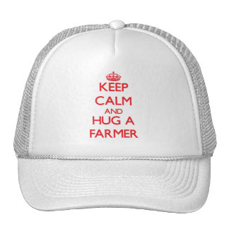 Guarde la calma y abrace a un granjero gorras