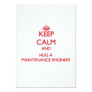 Guarde la calma y abrace a un ingeniero del invitación 12,7 x 17,8 cm