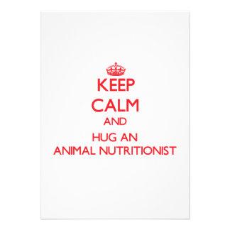 Guarde la calma y abrace a un nutricionista animal invitacion personalizada