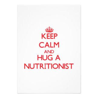 Guarde la calma y abrace a un nutricionista comunicado
