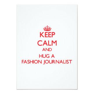 Guarde la calma y abrace a un periodista de la comunicado personal