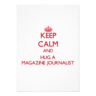 Guarde la calma y abrace a un periodista de la rev invitacion personal