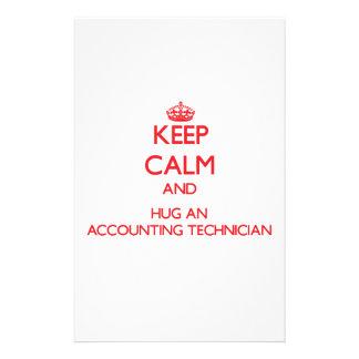 Guarde la calma y abrace a un técnico de la contab papeleria personalizada