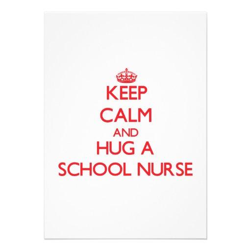 Guarde la calma y abrace a una enfermera de la esc comunicados