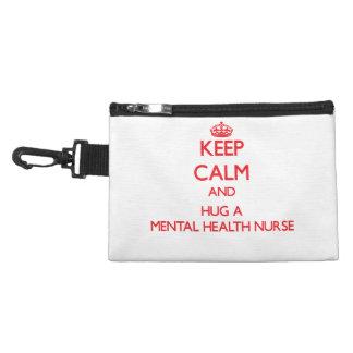 Guarde la calma y abrace a una enfermera de salud
