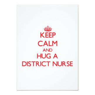 Guarde la calma y abrace a una enfermera del anuncio