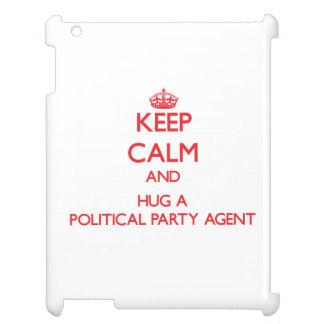 Guarde la calma y abrace un agente del fiesta polí