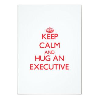 Guarde la calma y abrace un ejecutivo comunicados
