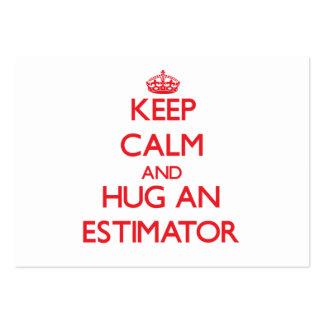 Guarde la calma y abrace un perito tarjetas de visita grandes