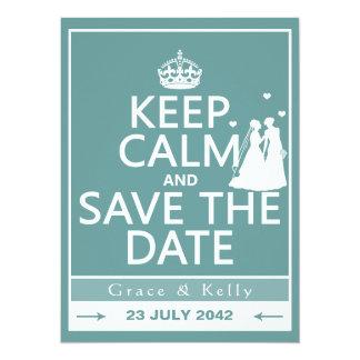 Guarde la calma y ahorre el boda lesbiano de la invitación personalizada