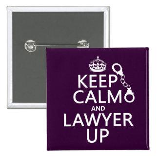 Guarde la calma y al abogado para arriba (cualquie chapa cuadrada 5 cm